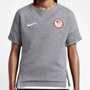 Nike Tops - NIKE USA OLYMPICS SHORT SLEAVE SWEATSHIRT GRAY S